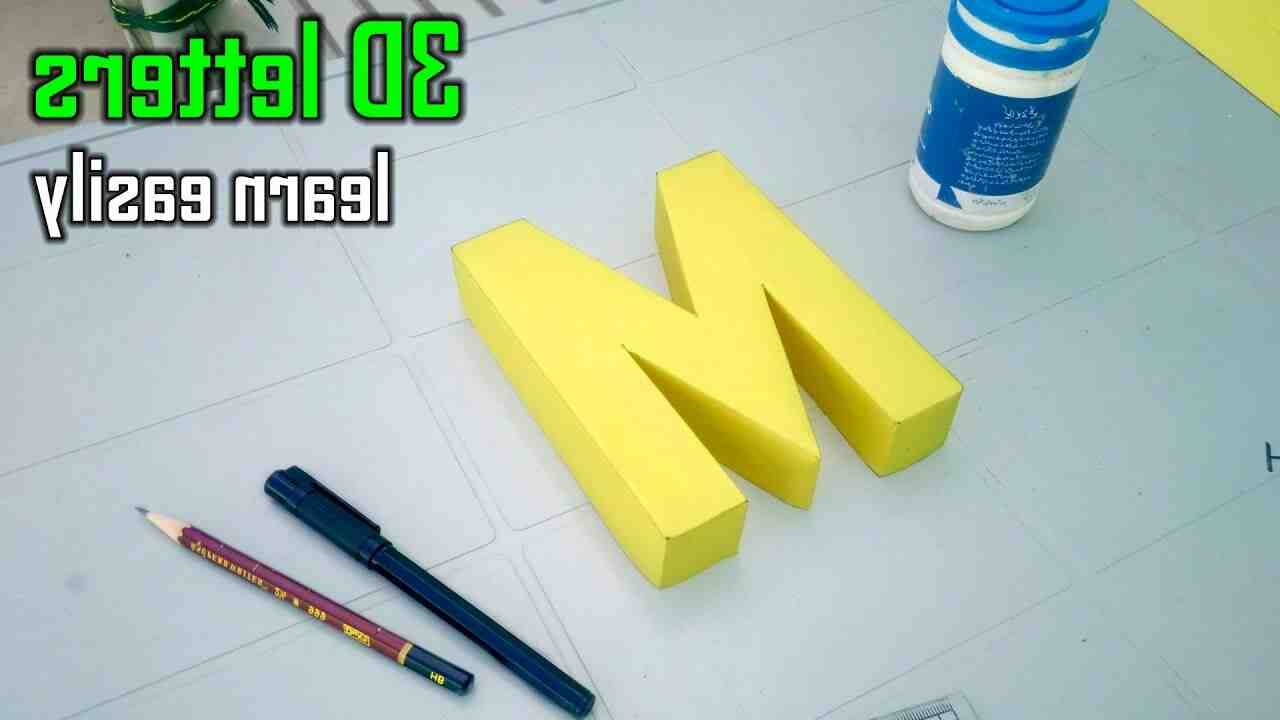How to make letters 3d